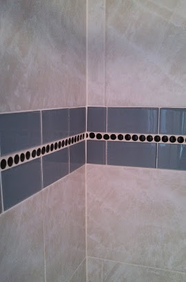 Mosaic Tile in Shower